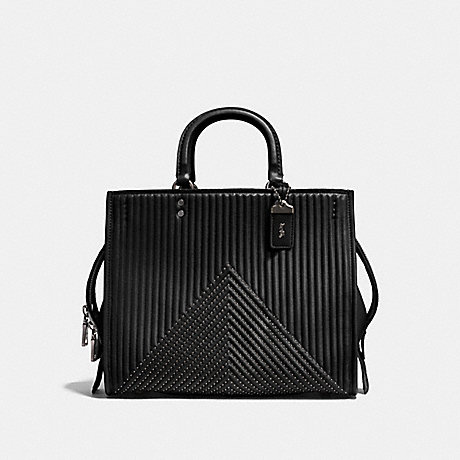 COACH F22809 ROGUE WITH QUILTING AND RIVETS BP/BLACK