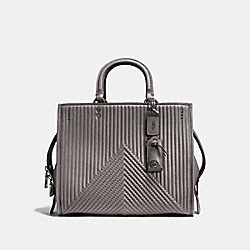 COACH F22809 Rogue With Quilting And Rivets HEATHER GREY/BLACK COPPER
