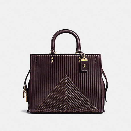 COACH F22809 ROGUE WITH QUILTING AND RIVETS OL/OXBLOOD