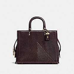 COACH F22809 - ROGUE WITH QUILTING AND RIVETS OL/OXBLOOD
