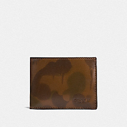 SLIM BILLFOLD WALLET WITH WILD BEAST PRINT - F22823 - SURPLUS