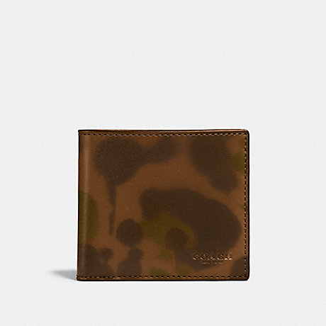 COACH F22824 COIN WALLET WITH WILD BEAST PRINT SURPLUS