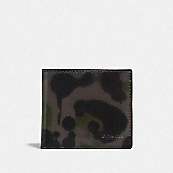 COACH F22824 Coin Wallet With Wild Beast Print CHARCOAL