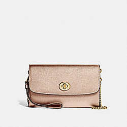 COACH F22828 Chain Crossbody ROSE GOLD/LIGHT GOLD