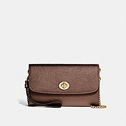 COACH F22828 - CHAIN CROSSBODY BRONZE/LIGHT GOLD
