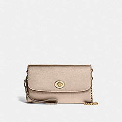 COACH F22828 Chain Crossbody LIGHT GOLD/PLATINUM