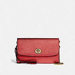 COACH F22828 Chain Crossbody METALLIC CURRANT/LIGHT GOLD