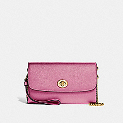 COACH F22828 Chain Crossbody METALLIC ANTIQUE BLUSH/LIGHT GOLD