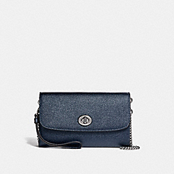 COACH F22828 Chain Crossbody SILVER/METALLIC NAVY