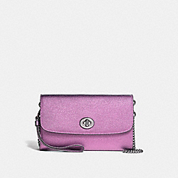 COACH F22828 Chain Crossbody SILVER/METALLIC LILAC