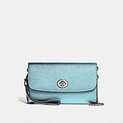 COACH F22828 Chain Crossbody METALLIC SKY BLUE/SILVER