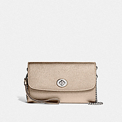 COACH F22828 Chain Crossbody PLATINUM/SILVER