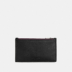 COACH F22837 Zip Card Case OXBLOOD/BLACK