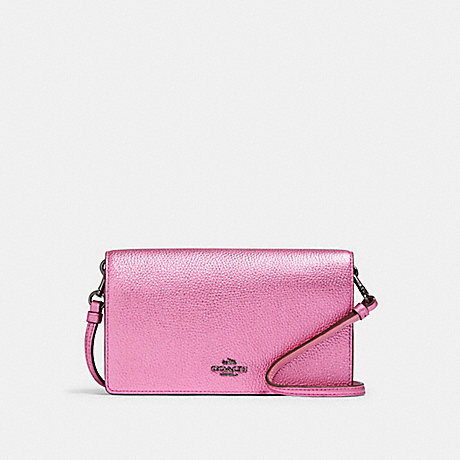 COACH F22851 HAYDEN FOLDOVER CROSSBODY CLUTCH DK/METALLIC-ROSE