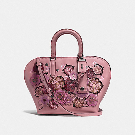 COACH F22855 DAKOTAH SATCHEL 22 WITH LINKED TEA ROSE BP/DUSTY ROSE
