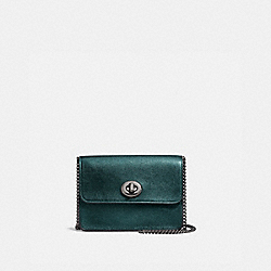 BOWERY CROSSBODY - f22857 - METALLIC IVY/DARK GUNMETAL