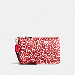 COACH F22858 - SMALL WRISTLET WITH LOVE LEAF PRINT LI/LOVE LEAF