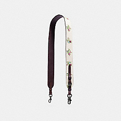 NOVELTY STRAP WITH CROSS STITCH FLORAL PRINT - f22860 - DARK GUNMETAL/CHALK CROSS STITCH FLORAL