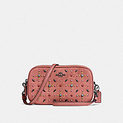COACH F22868 - SADIE CROSSBODY CLUTCH WITH PRAIRIE RIVETS DK/MELON