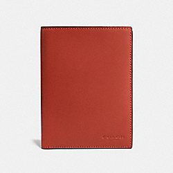 COACH F22875 Passport Case VERMILLION