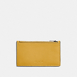 COACH F22879 Zip Card Case FLAX