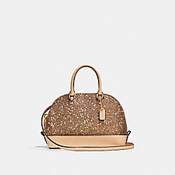 MICRO MINI SIERRA SATCHEL WITH STAR GLITTER - f22891 - LIGHT GOLD/PLATINUM