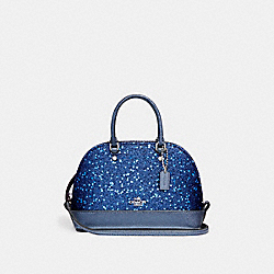 COACH F22891 Micro Mini Sierra Satchel With Star Glitter SILVER/BRIGHT MINERAL