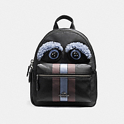 MINI CHARLIE BACKPACK - f22894 - ANTIQUE NICKEL/BLACK