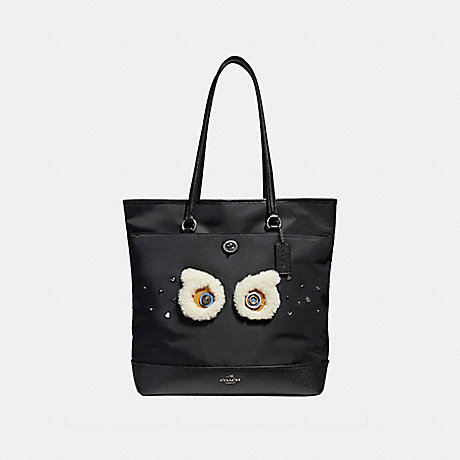 COACH f22895 TOTE ANTIQUE NICKEL/BLACK