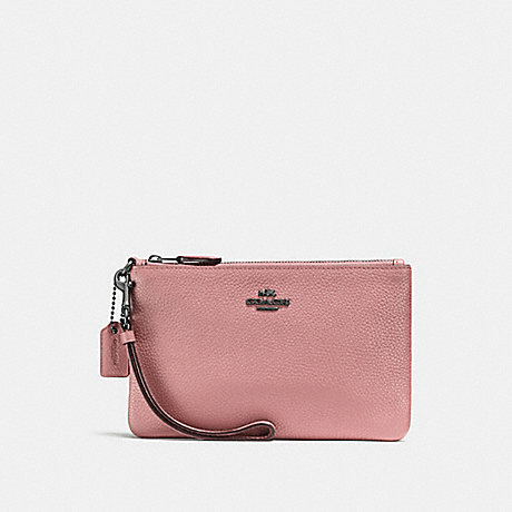 68b236d66e9744 COACH F22952 - SMALL WRISTLET - DUSTY ROSE DARK GUNMETAL