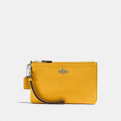 COACH F22952 Small Wristlet CANARY/SILVER