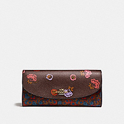 COACH F22968 Slim Envelope Wallet With Primrose Meadow Print IMFCG
