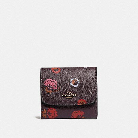 Coach F22969 Small Wallet With Primrose Floral Print