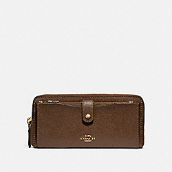 MULTIFUNCTION WALLET - f22997 - saddle 2/imitation gold