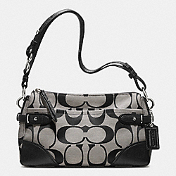 COLETTE EAST/WEST SHOULDER BAG IN SIGNATURE FABRIC - f23072 - SILVER/BLACK/WHITE/BLACK