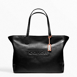 COACH F23105 - WEEKEND LEATHER MEDIUM ZIP TOP TOTE ONE-COLOR