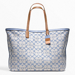 COACH F23106 Legacy Weekend Printed Signature Large Dogleash Tote