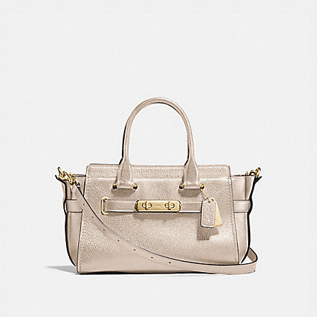 COACH f23197 COACH SWAGGER 27 PLATINUM/LIGHT GOLD