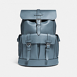 HUDSON BACKPACK - f23202 - BLACK ANTIQUE NICKEL/DENIM
