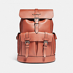 COACH HUDSON BACKPACK - BLACK ANTIQUE NICKEL/TERRACOTTA - F23202