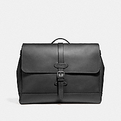 COACH F23204 Hudson Messenger ANTIQUE NICKEL/BLACK