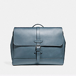 HUDSON MESSENGER - f23204 - BLACK ANTIQUE NICKEL/DENIM