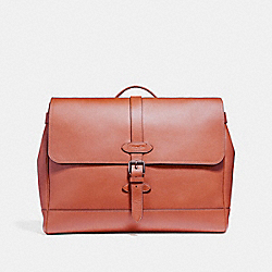 COACH F23204 Hudson Messenger BLACK ANTIQUE NICKEL/TERRACOTTA