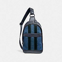 CHARLES PACK WITH VARSITY STRIPE - f23219 - DENIM/BLACK/DENIM/BLACK ANTIQUE NICKEL