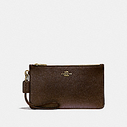 COACH F23223 Crosby Clutch BRONZE/LIGHT GOLD