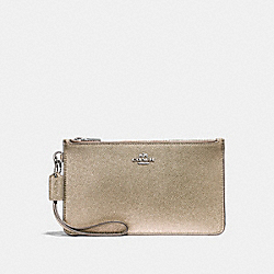 COACH F23223 Crosby Clutch PLATINUM/SILVER