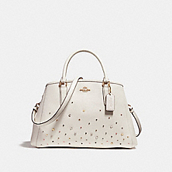 SMALL MARGOT CARRYALL WITH STARDUST STUDS - f23235 - LIGHT GOLD/CHALK