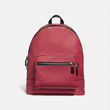 COACH f23247 WEST BACKPACK TRUE RED/BLACK ANTIQUE NICKEL