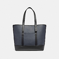 WEST TOTE IN COLORBLOCK - f23248 - MIDNIGHT NAVY/BLACK/BLACK ANTIQUE NICKEL