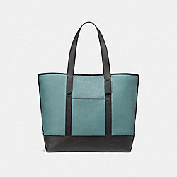 WEST TOTE IN COLORBLOCK - f23248 - SLATE/BLACK/BLACK ANTIQUE NICKEL